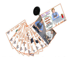 Teaching behaviour visual aids. Student learning communication resource