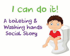 toilet training social story, I can do it.