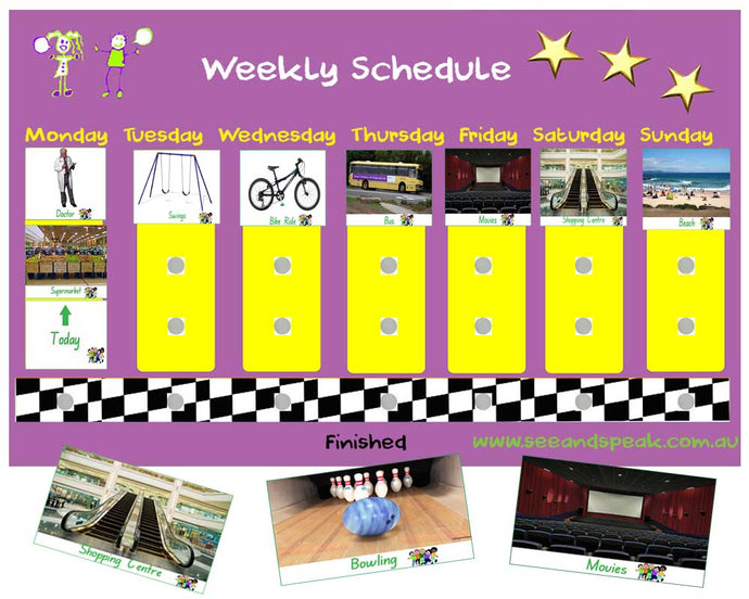 Weekly Picture Schedule - Price incl GST