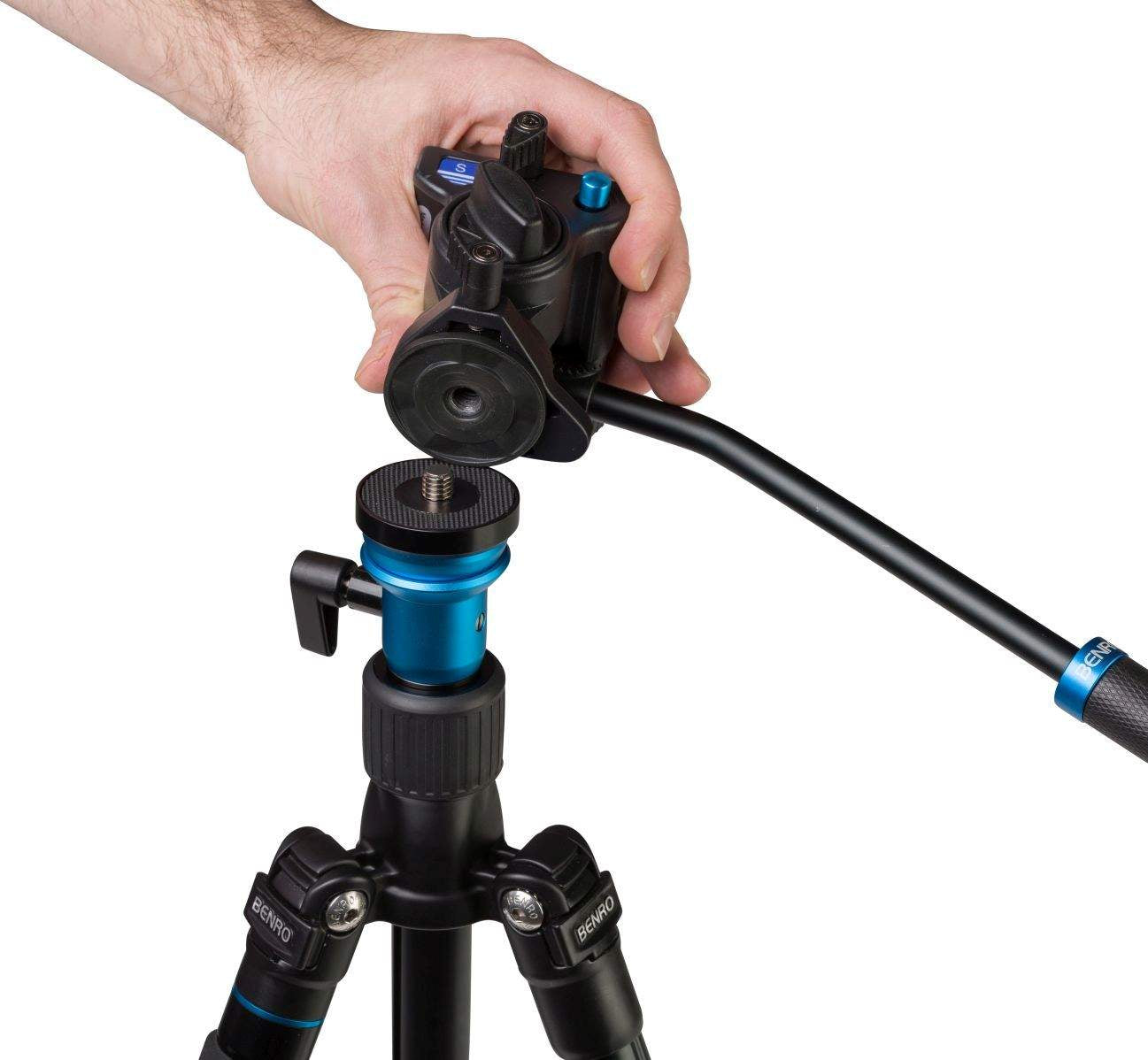 Benro A1883F S2 Head Aero2 Travel Angel Video Tripod Kit