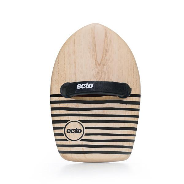 "Ecto Bodysurfing Handplanes - Wood 11"" All-Rounder (Black)"