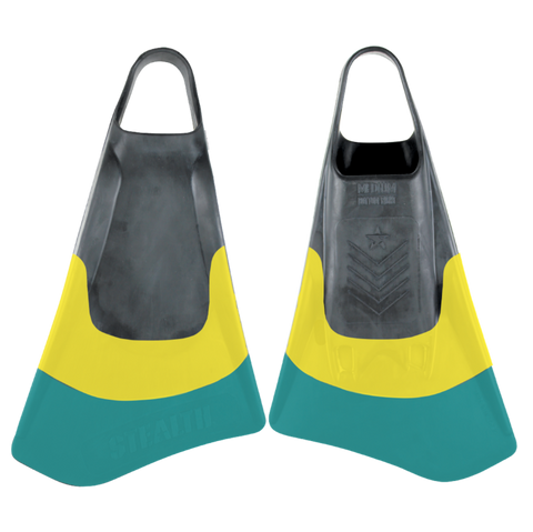 Stealth S2 Swimfins - Pinnacle Black / Yellow
