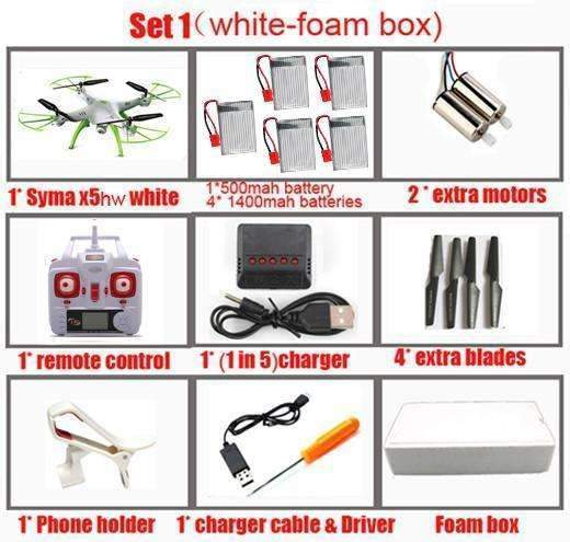 Syma X5HW FPV RC Quadcopter with Camera - GLOBAL DRONE MARKET