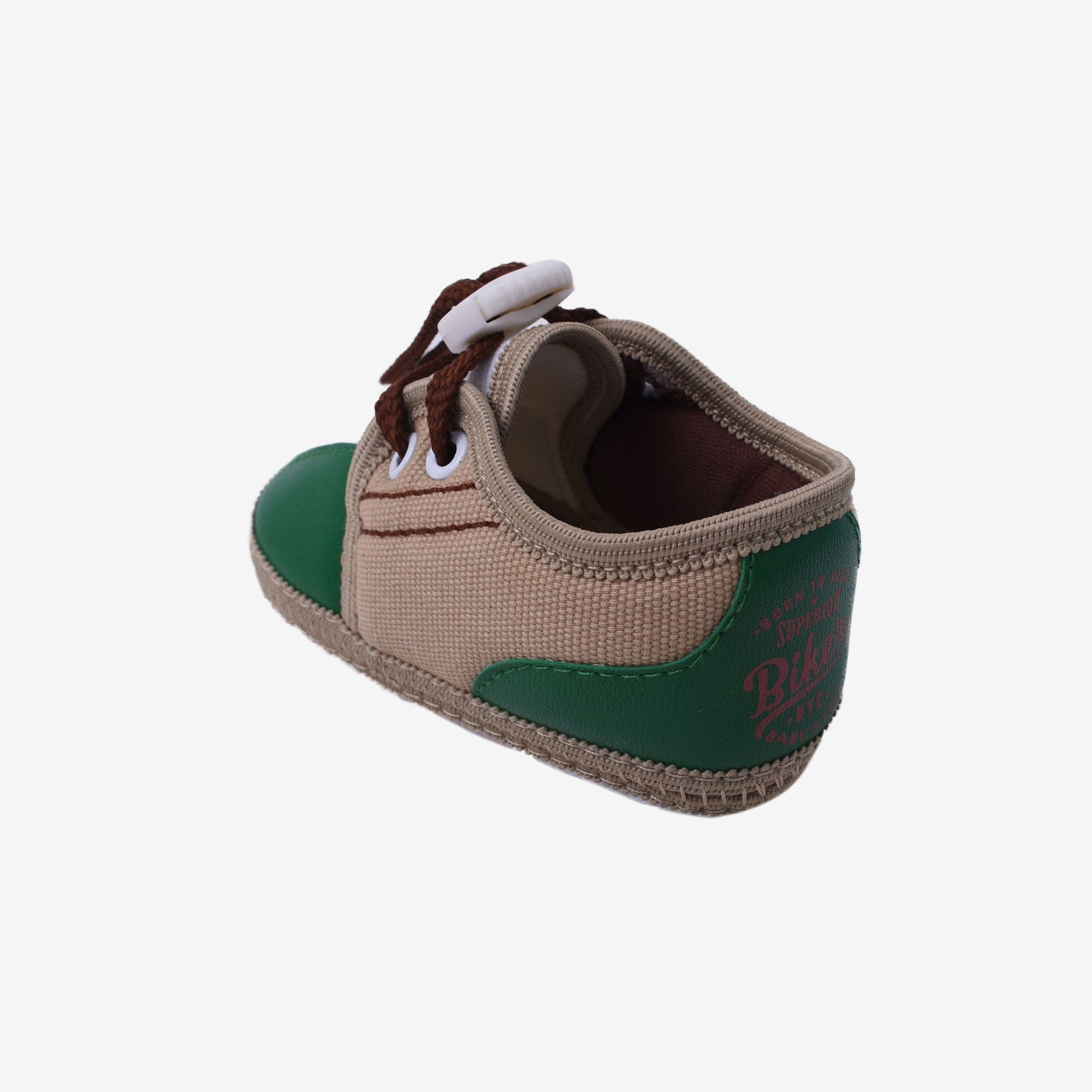 Newborn Textile Shoes - Green