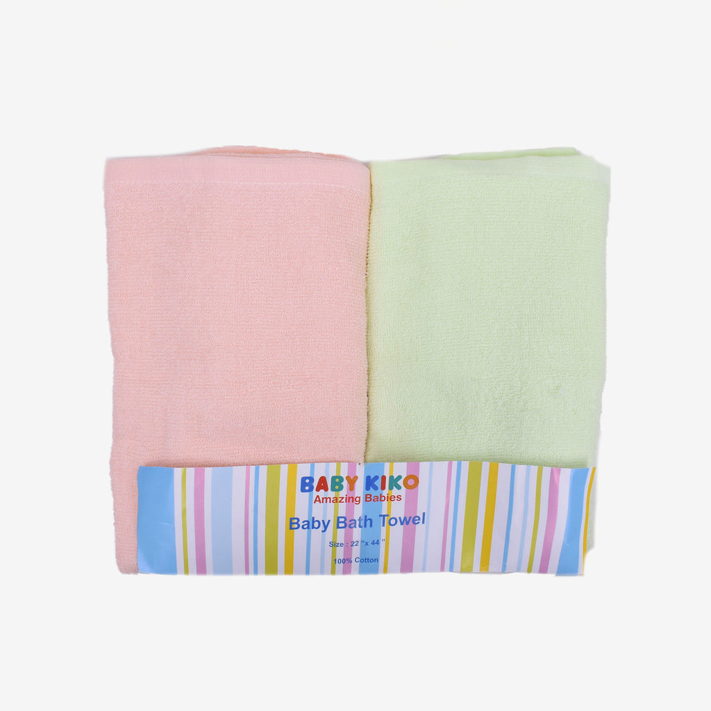 Baby Unisex Assorted Bath Towel 2 in 1 pack