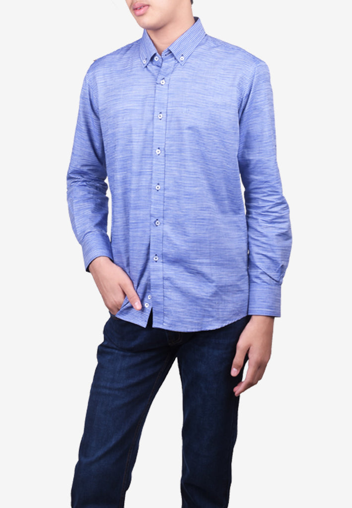 Casual Long Sleeve Shirt - Tapered Fit