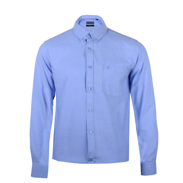 John Master Men Tapered Fit Long Sleeve Shirt - BLUE 7279000-L5