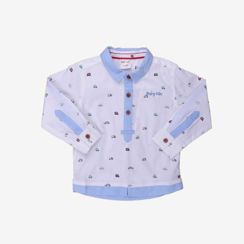 Joyful Dots 100% Cotton Long Sleeve Shirt