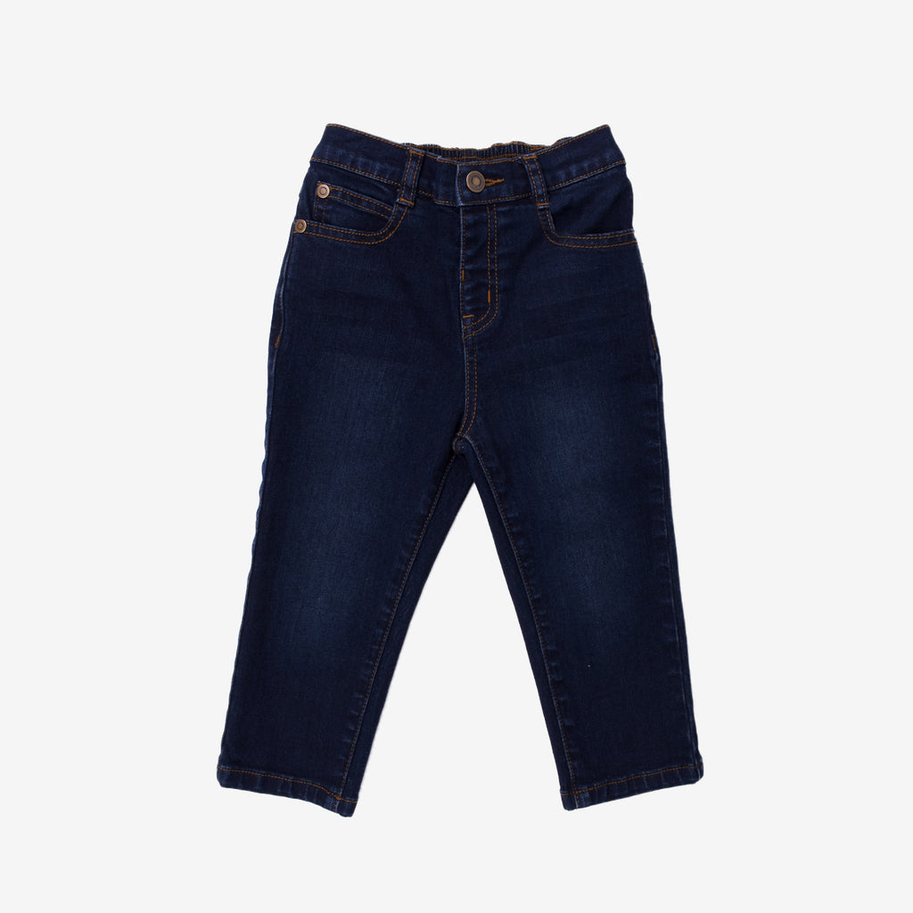 Basic Navy Denim Pants - Slim Fit