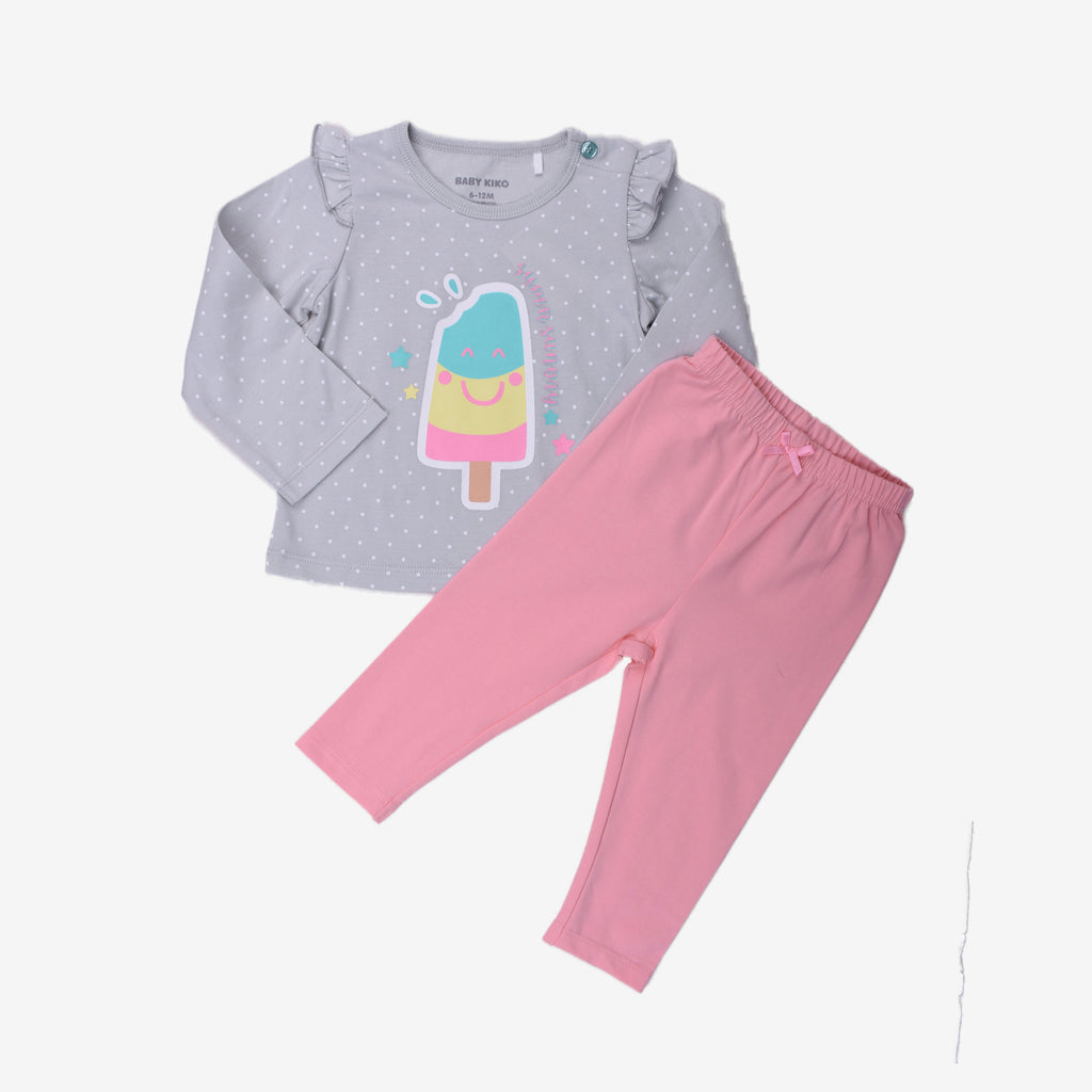 Popsicle Print Long Sleeve Daily Casual Wear