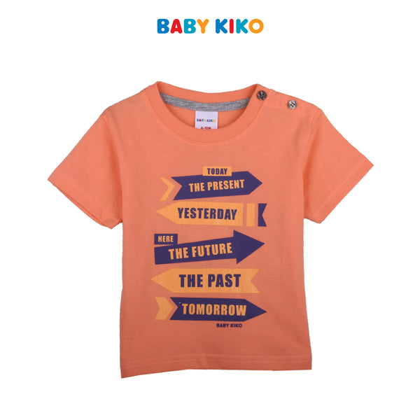 BABY KIKO BABY BOY SHORT SLEEVE TEE- ORANGE B921103-1100-E5