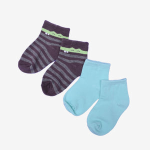Assorted Boy Knit Ankle Socks 2 in 1 pack
