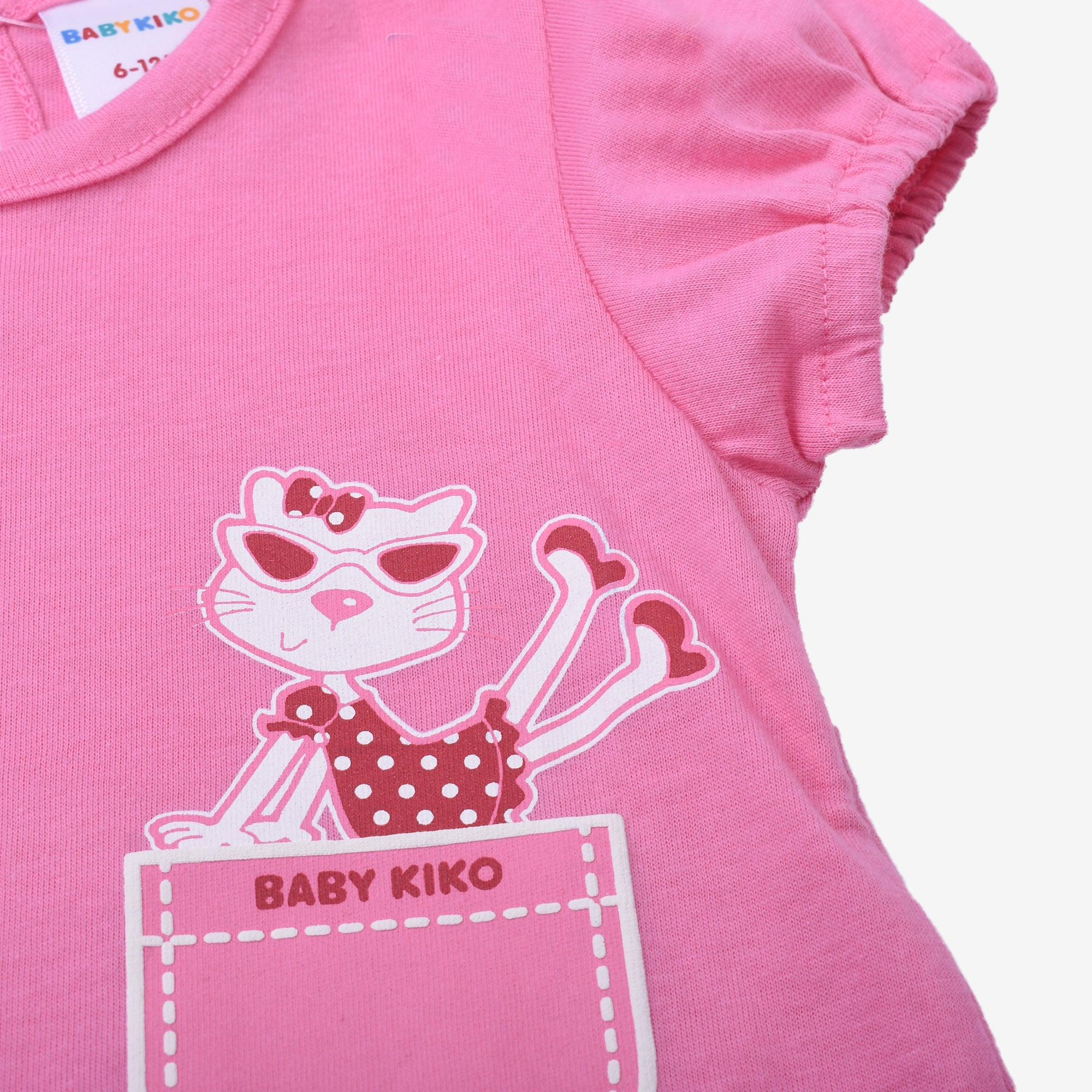 Cool Kitten Short Sleeve Tee- Hot Pink
