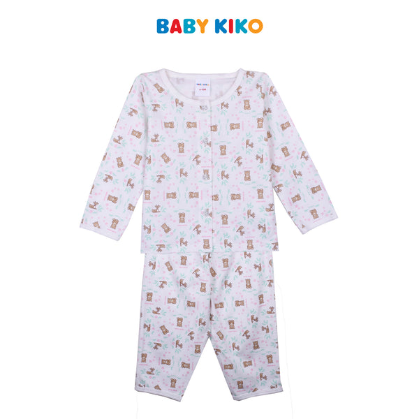BABY KIKO BABY GIRL SLEEP WEAR LONG SLEEVE LONG PANTS SUIT - CREAM B924104-4313-W5