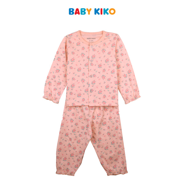 BABY KIKO BABY GIRL SLEEP WEAR LONG SLEEVE LONG PANTS SUIT - LIGHT PINK B924104-4322-P1