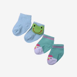 3D Frog Assorted Socks 2 in 1