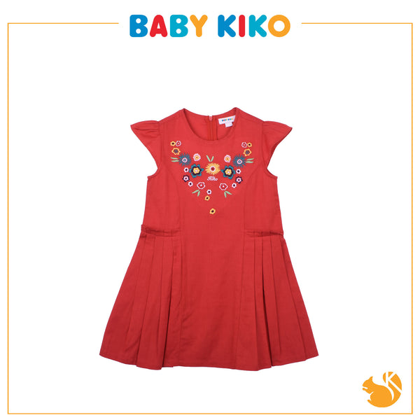 BABY KIKO Girl FASHION  Short Sleeve Dress - RED B944001-3104-R5
