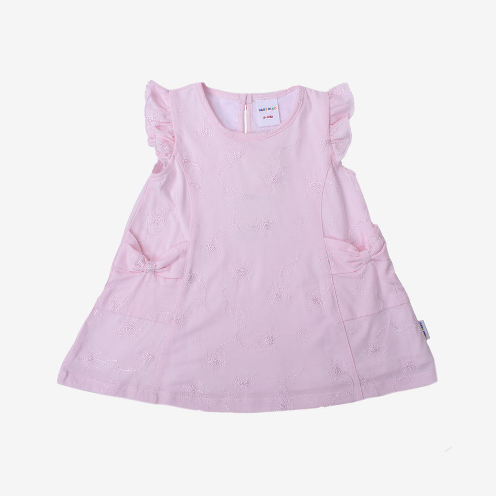 Short Sleeve Knit Dress - Baby Pink