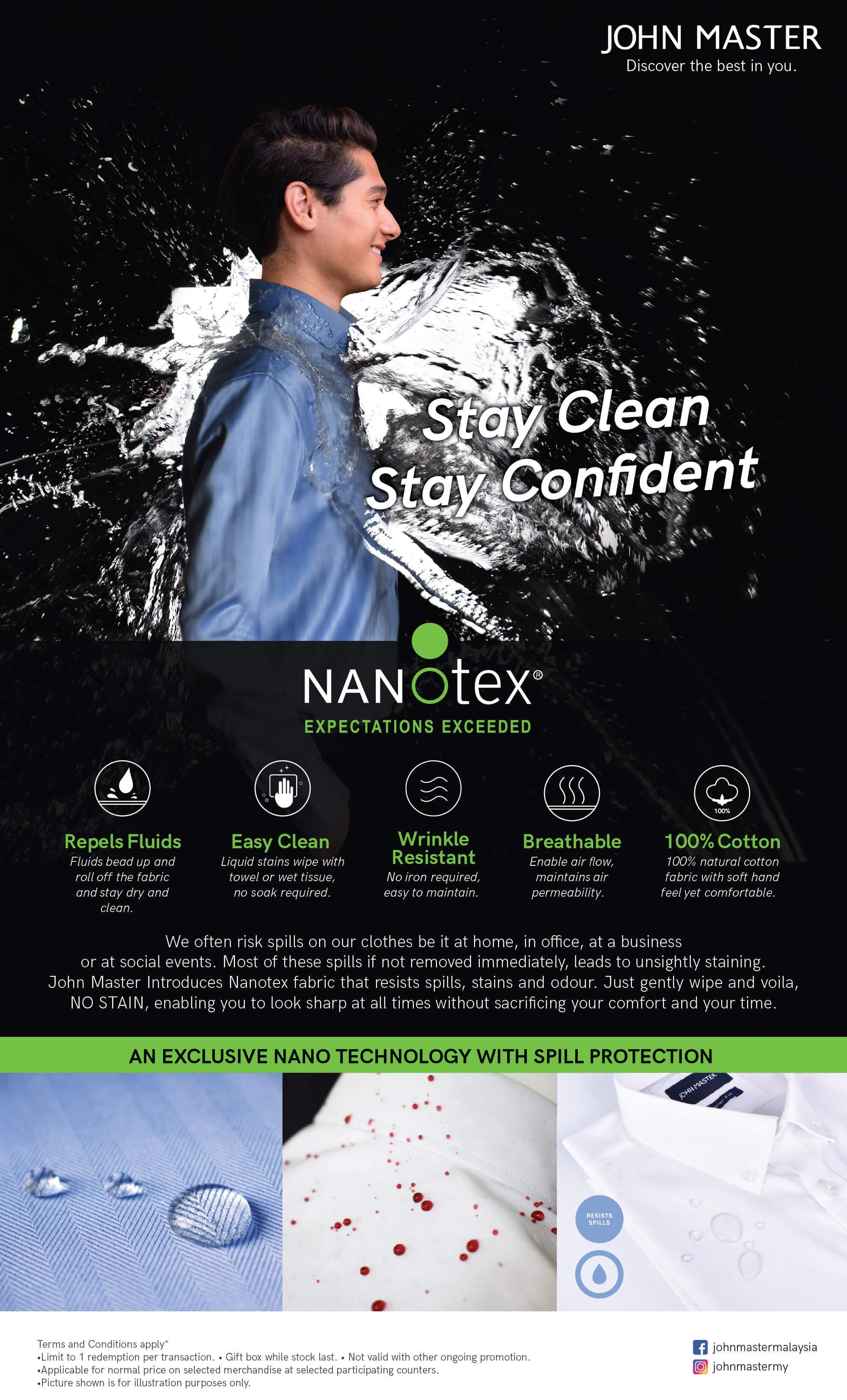 Nanotex Resists Spill Long Sleeve - Regular Fit
