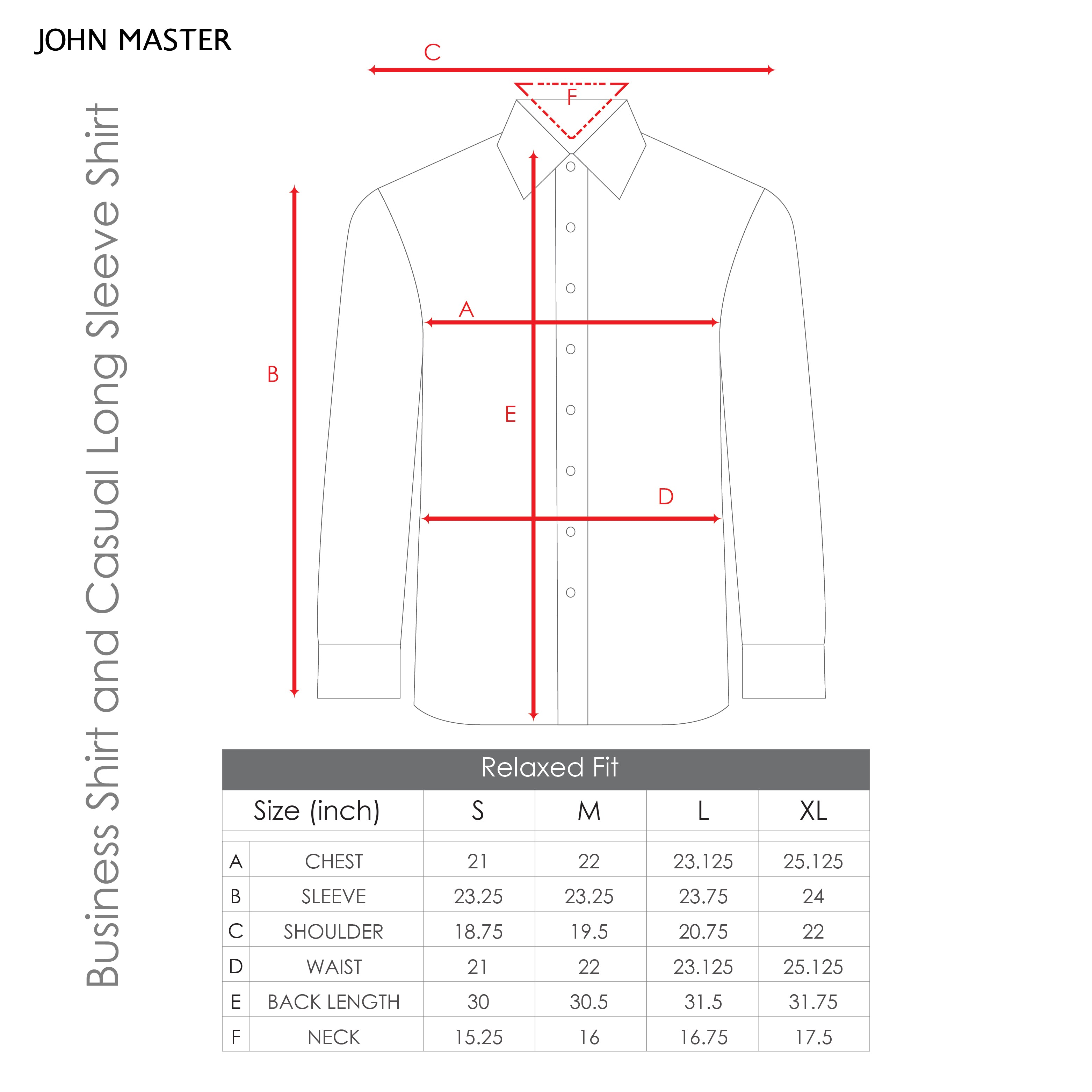 Business Long Sleeve Shirt - Relax Fit