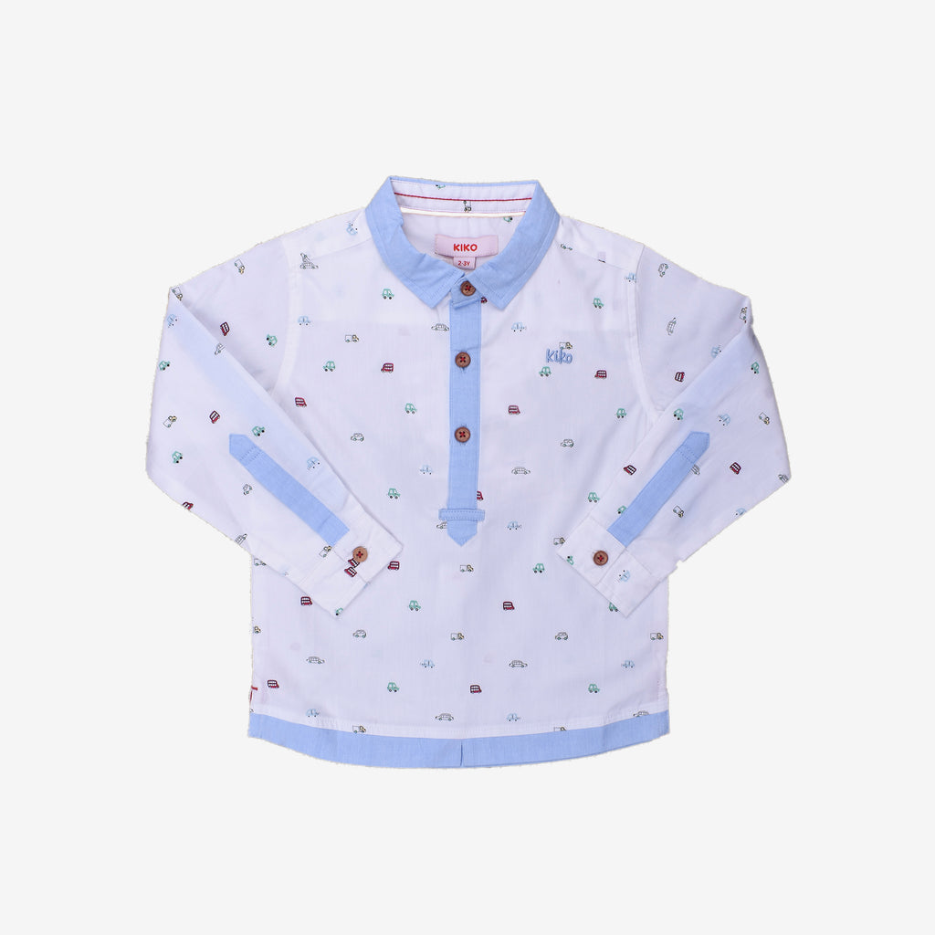 Joyful Cars 100% Cotton Long Sleeve Shirt