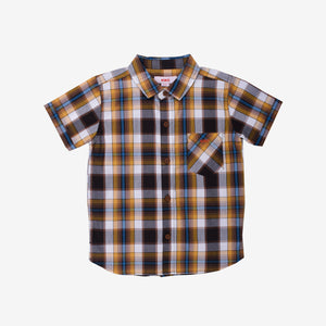 Smart Casual Checkered 100% Cotton Short Sleeve Shirt