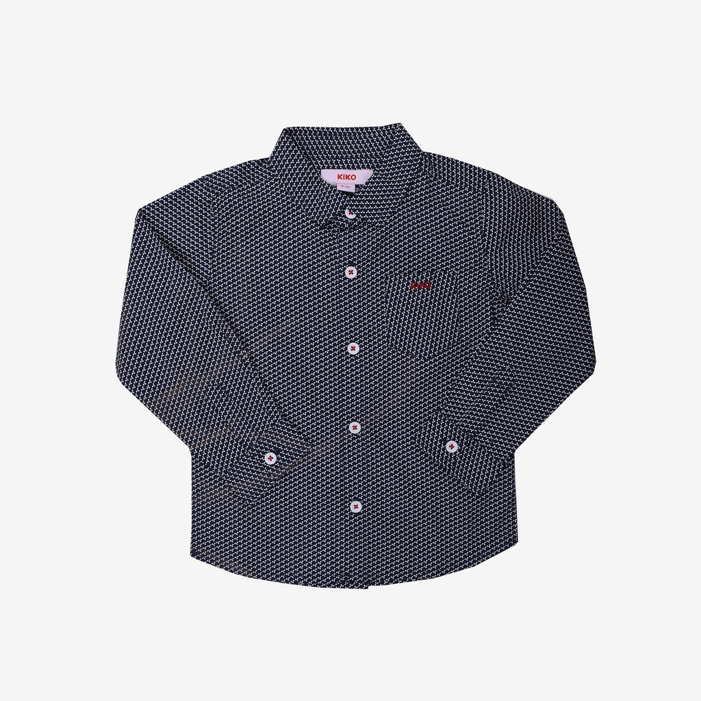 100% Cotton Poplin Woven-Long Sleeve Shirt