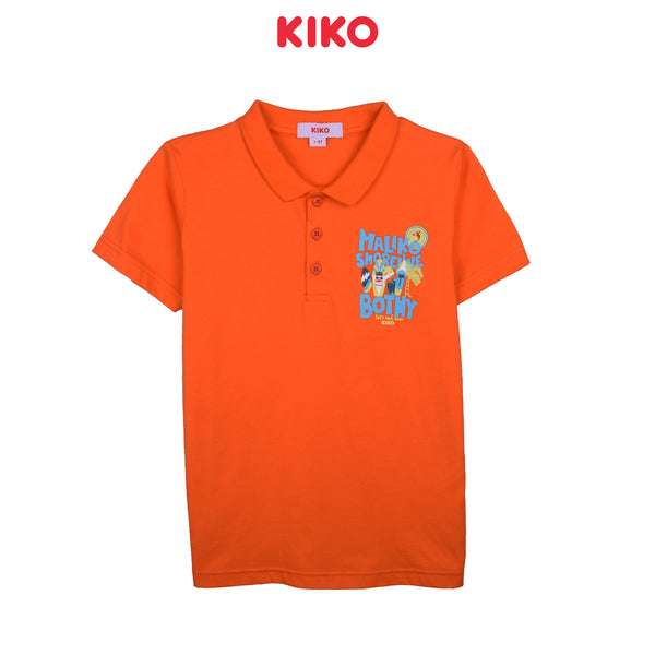 KIKO BOY BASIC SHORT SLEEVE COLLAR TEE - ORANGE K922103-1293-E5