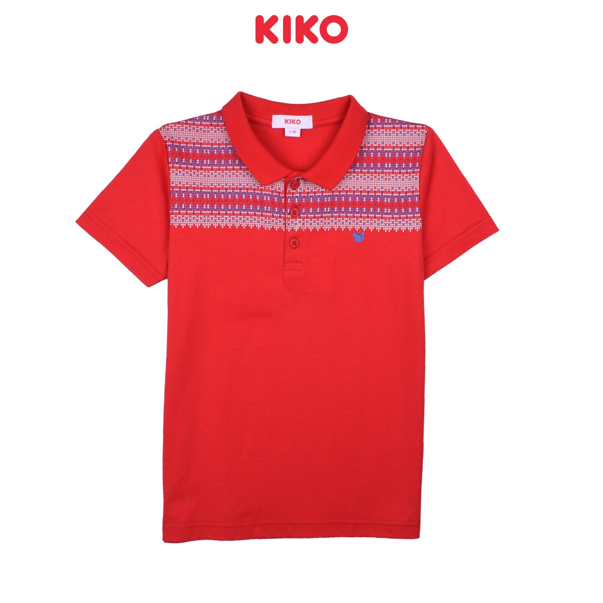 KIKO BOY BASIC SHORT SLEEVE COLLAR TEE - RED K922103-1294-R5 : Buy KIKO online at CMG.MY