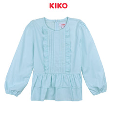 KIKO GIRL LONG SLEEVE BLOUSE - BLUE K925001-1504-N5