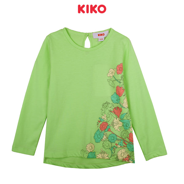 KIKO GIRL BASIC LONG SLEEVE TEE - GREEN K925103-1331-N5