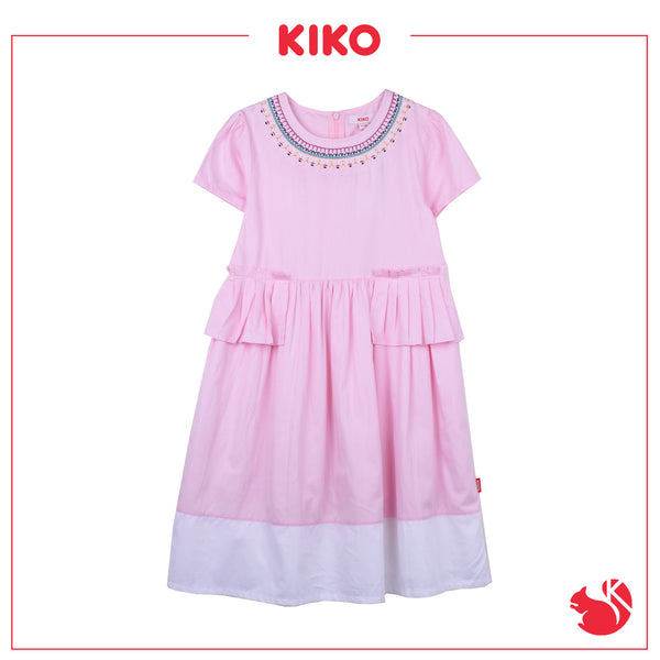 KIKO GIRL FASHION  SHORT SLEEVE DRESS - PINK K935001-3102-P5