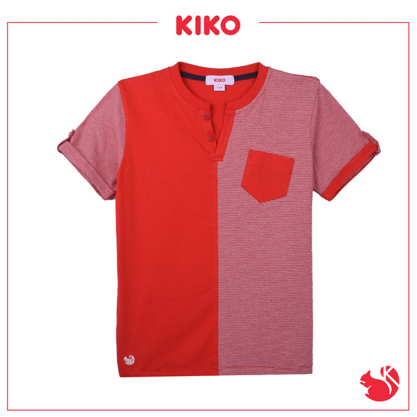 KIKO BOY FASHION  SHORT SLEEVE TEE - RED K942001-1112-R5
