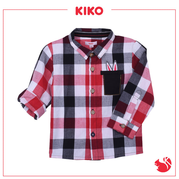 KIKO BOY FASHION  LONG SLEEVE SHIRT -  NAVY K942001-1506-L9