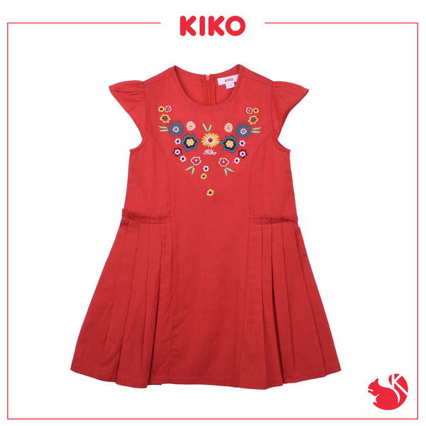 KIKO GIRL FASHION  SHORT SLEEVE DRESS - RED K945001-3104-R5