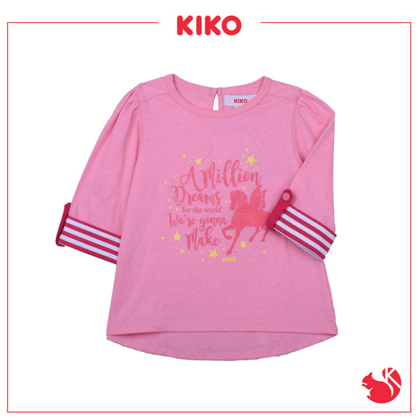 KIKO GIRL BASIC 3/4 SLEEVE TEE - LIGHT PINK K945103-1322-P1