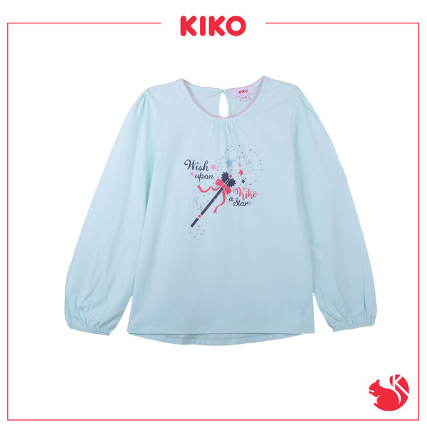 KIKO GIRL BASIC LONG SLEEVE TEE - GREEN K945103-1392-N5