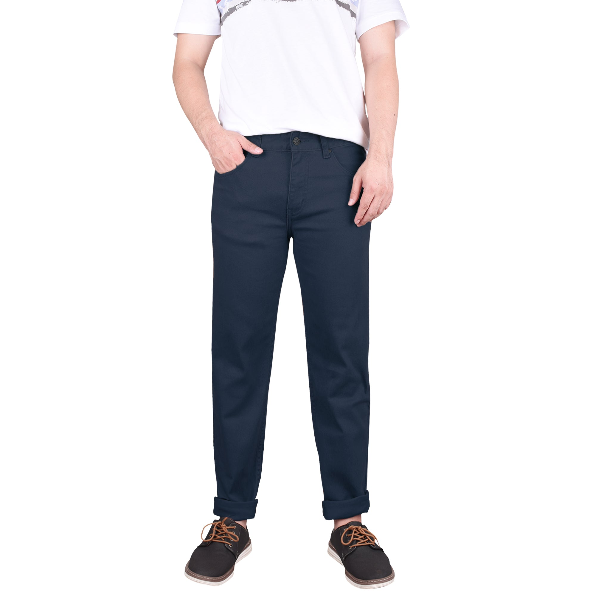 John Henry Tapered Fit Navy Chinos