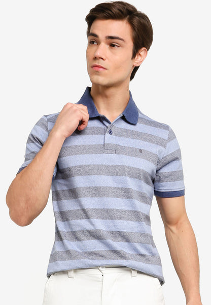John Henry Men Polo Shirt - DRESS BLUE KS19SS48C-SC