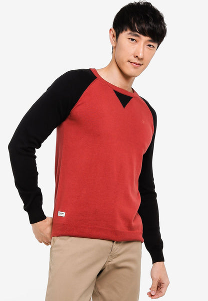 John Henry Men Sweater - RED SW18FH006D-LA