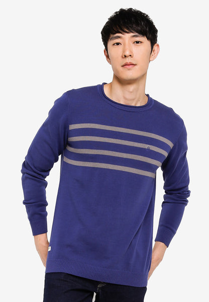 John Henry Men Sweater - BLUE DEPTHS SW18FH007D-LA