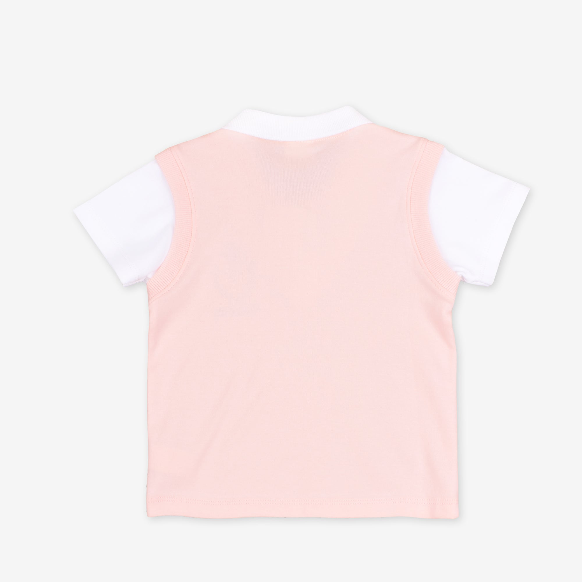 Light Orange Short Sleeve Collar Tee