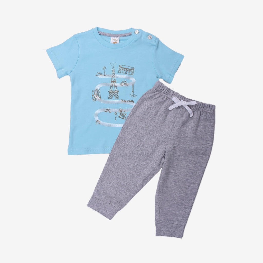 Little Traveler Short Sleeve Lounge Wear