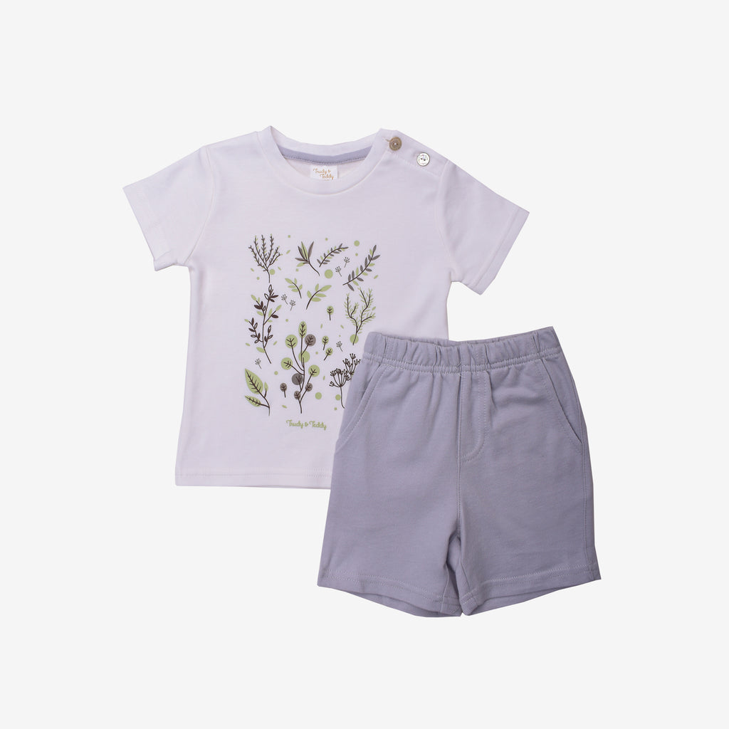 Delightful Essential Short Sleeve Bermuda Set