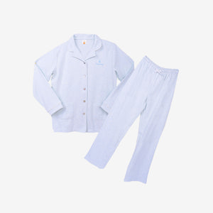 100% Cotton Knit Lounge Wear - Light Blue