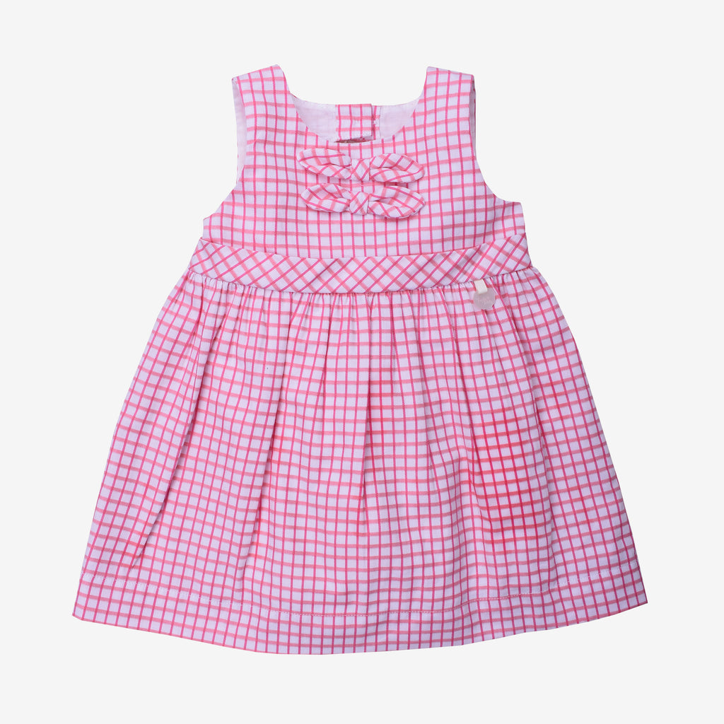 Picnic Day Checkered Woven Sleeveless Dress