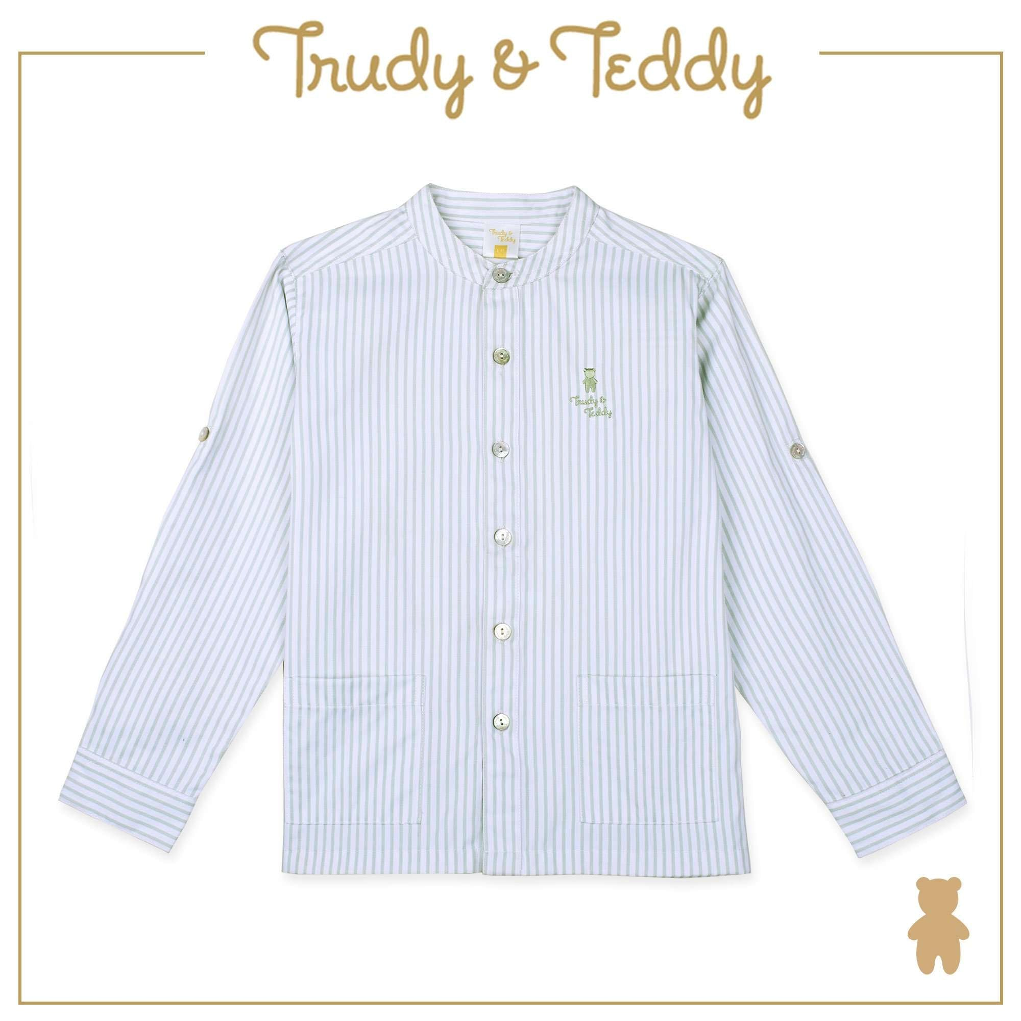 Trudy & Teddy Baby to Kid Boy Long Sleeve Shirt - Light Green T911001-1507-N1 : Buy Trudy & Teddy online at CMG.MY