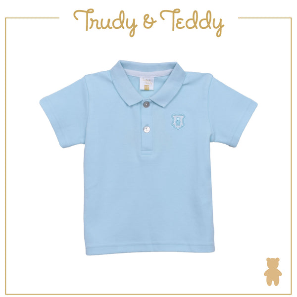 Trudy & Teddy Boy CORE SHORT SLEEVE COLLAR TEE - Light Blue T911005-1204-L1