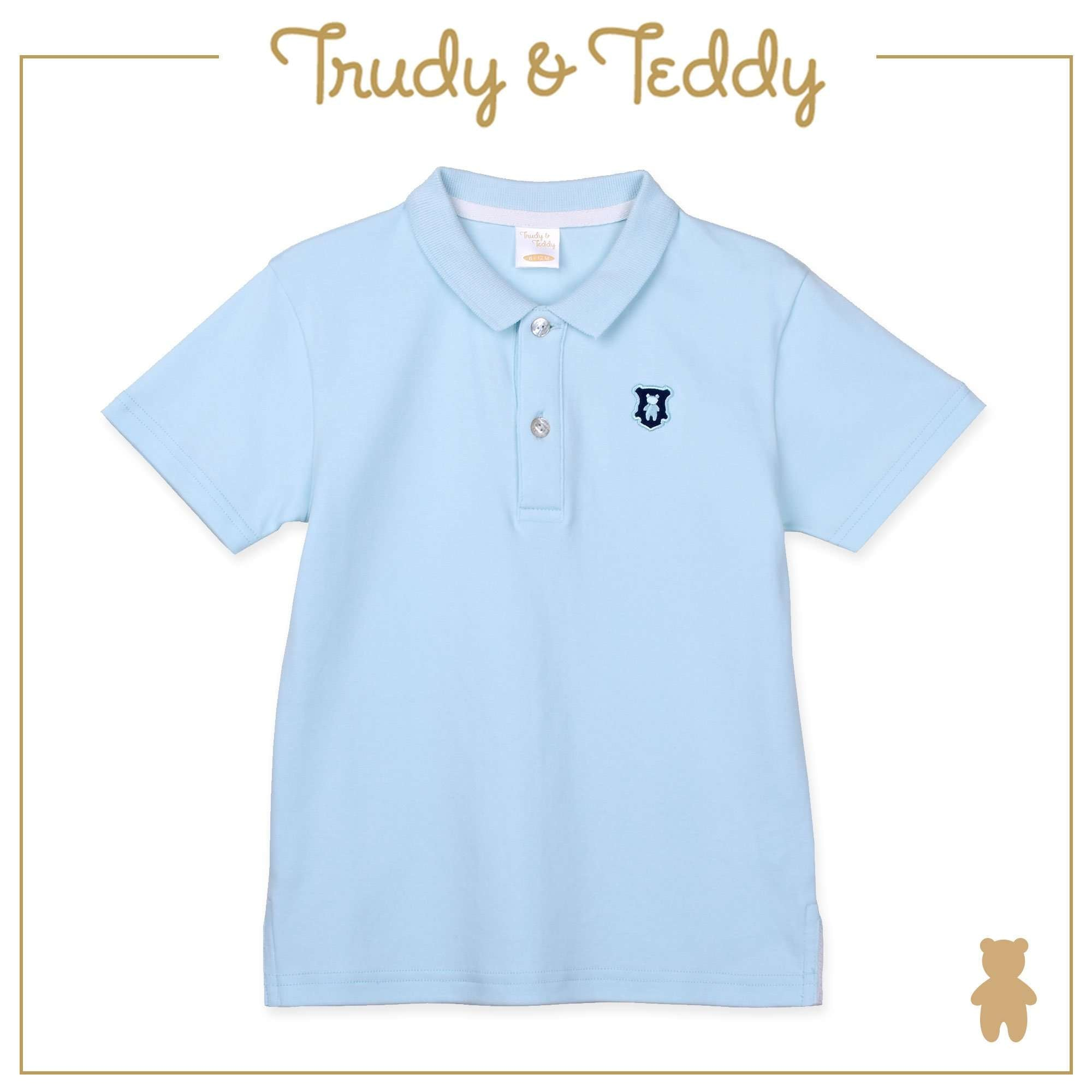 Trudy & Teddy Baby to Kid Boy Short Sleeve Collar Tee - Light Blue T912005-1204-L1 : Buy Trudy & Teddy online at CMG.MY