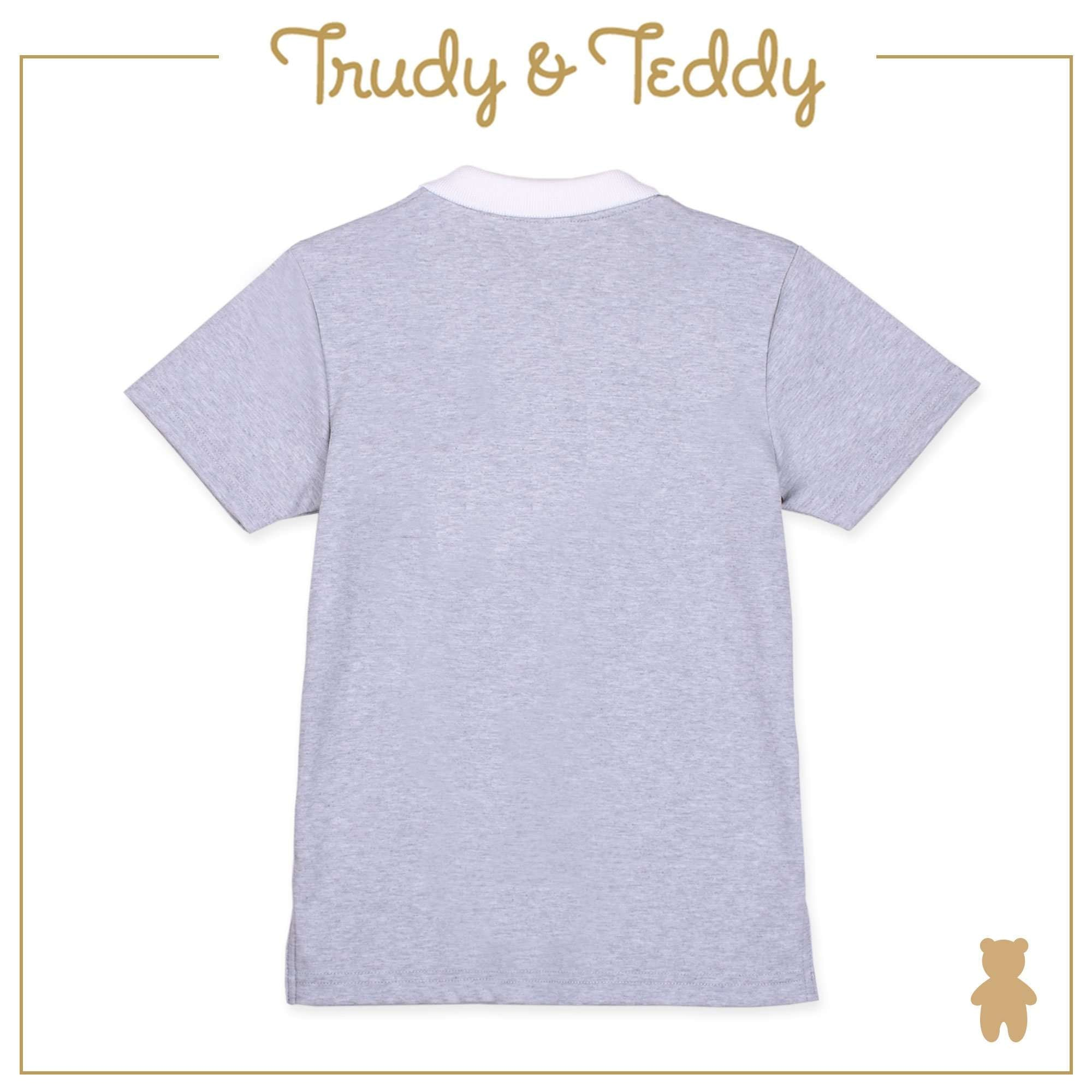 Trudy & Teddy Baby to Kid Boy Short Sleeve Collar Tee - Light Grey T912005-1205-G1 : Buy Trudy & Teddy online at CMG.MY